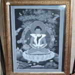 ブッダシャクティ(歓喜仏)の肉筆画